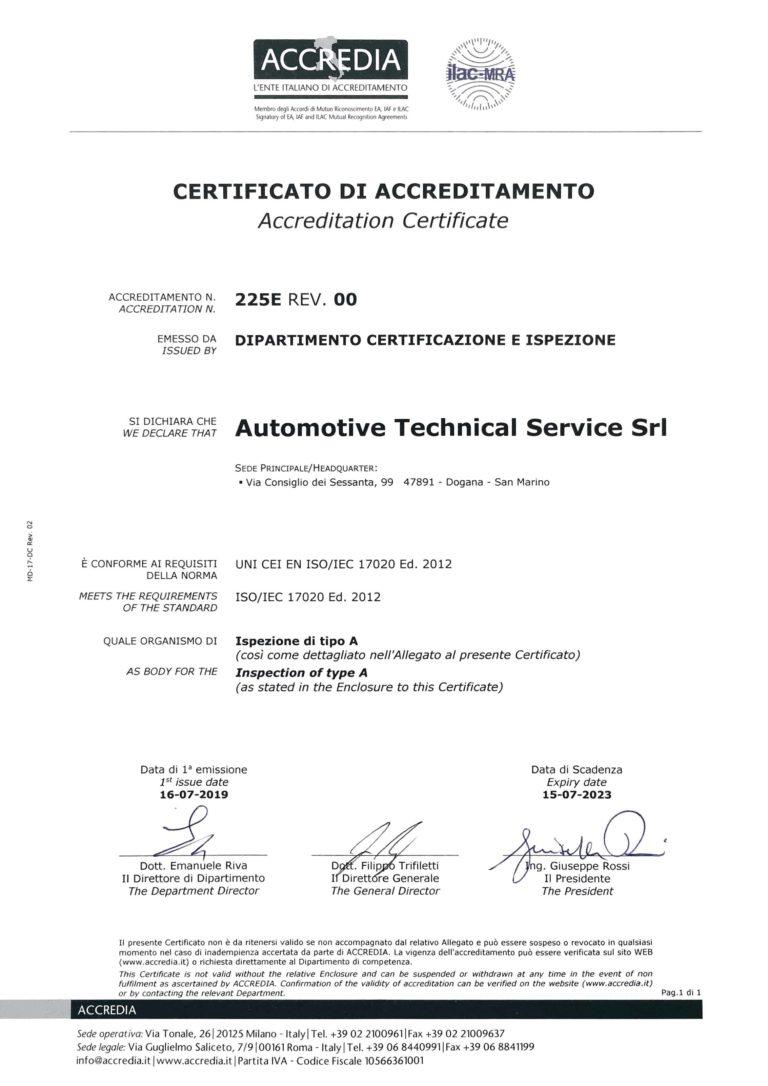 ATS ISO 17020:2012
